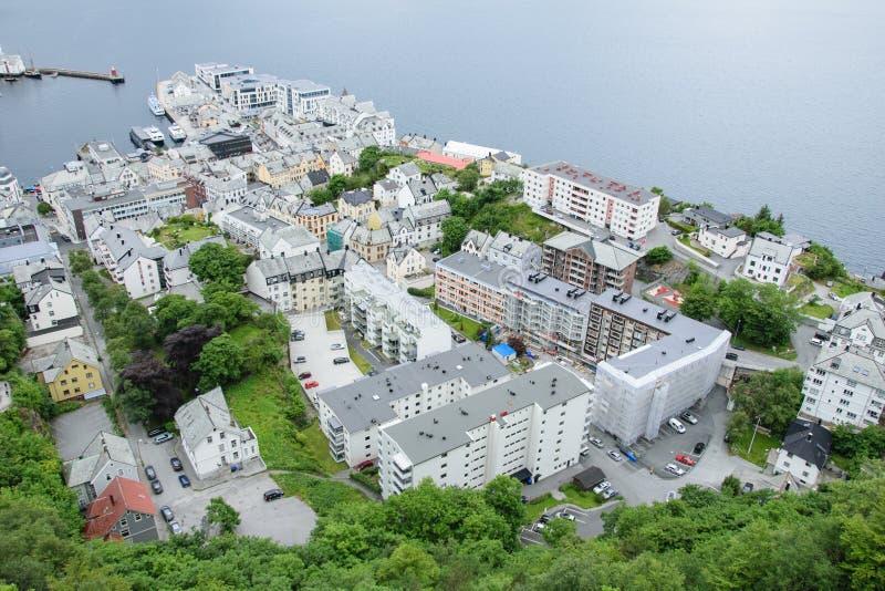 Город Alesund сверху стоковые изображения