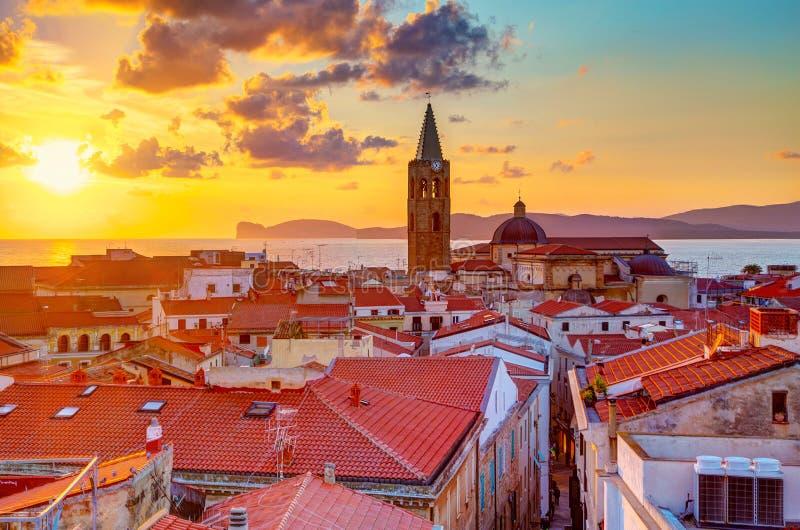 Город Alghero, Сардиния стоковые изображения rf