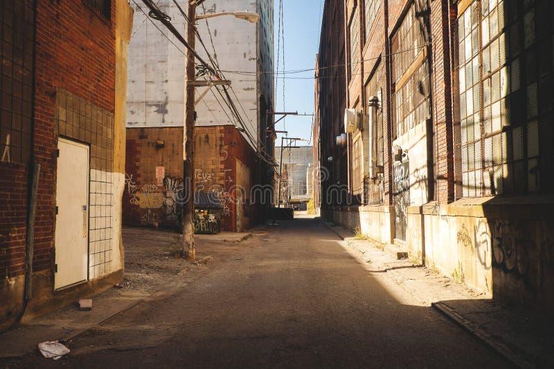 Город Allyway стоковая фотография