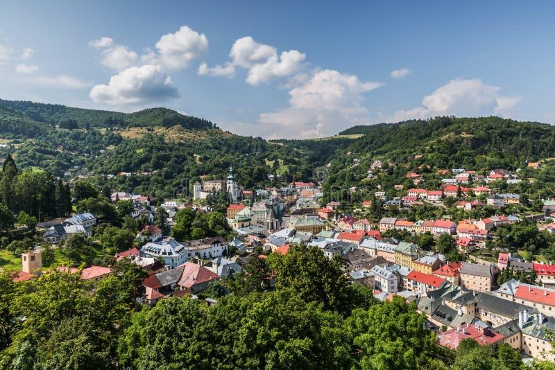Город Banska Stiavnica Словакии стоковое изображение
