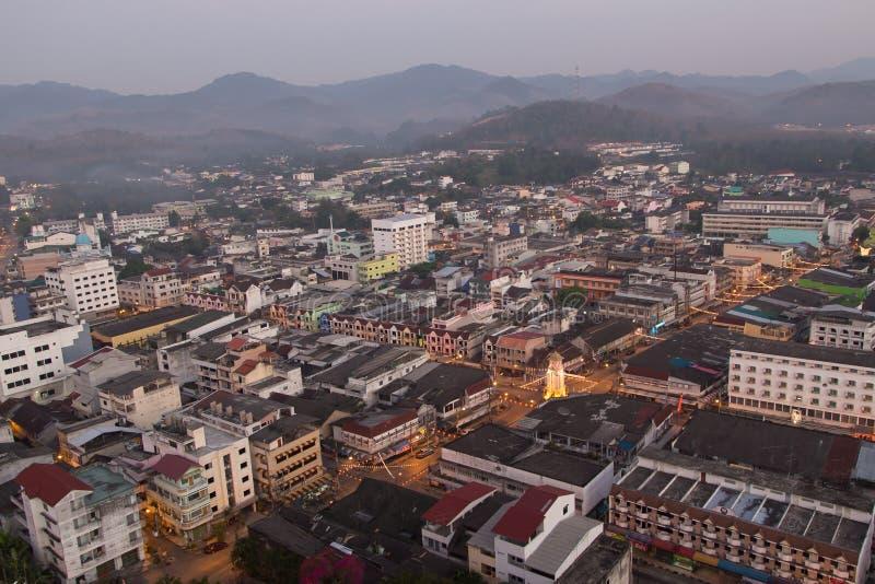 Город Betong - Yala тумана, Таиланд стоковые изображения