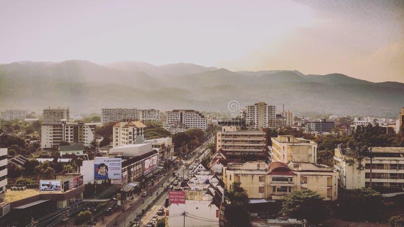 Город Chiangmai и Doi Suthep стоковые фотографии rf