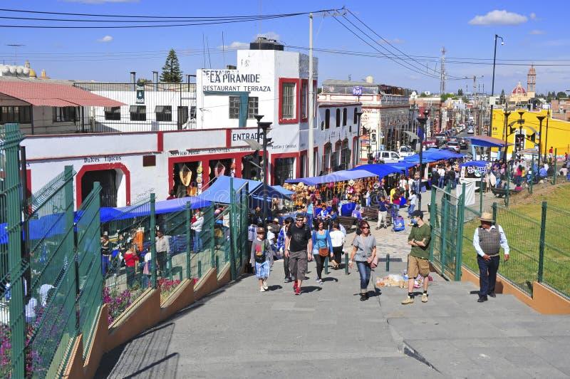 Город Colrful города Пуэбла, Мексики стоковая фотография