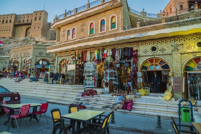 Город Erbil, Ирак стоковые изображения rf