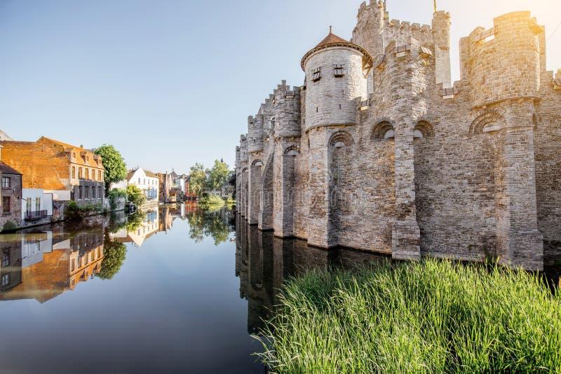 Город Gent в Бельгии стоковые фотографии rf