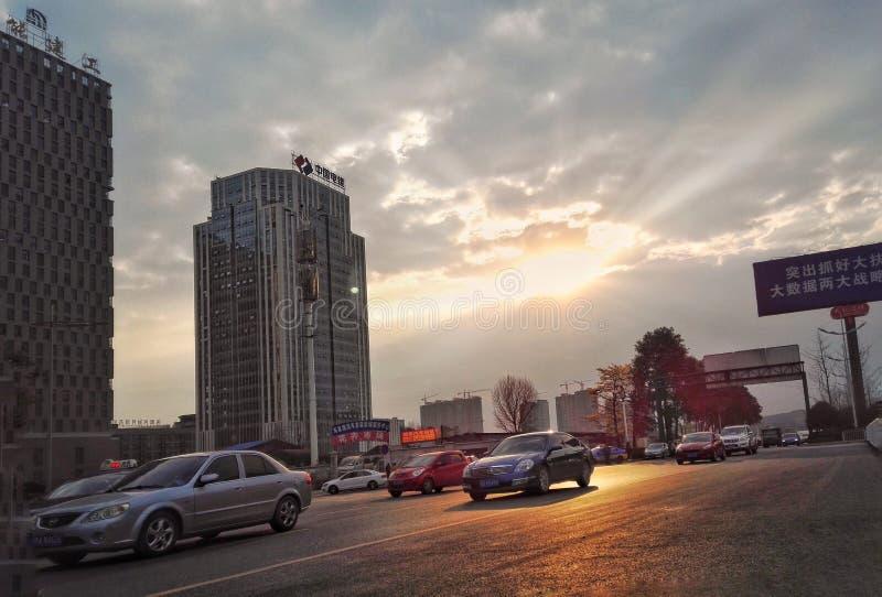 Город Guiyang в солнечном дне 2 стоковое изображение rf