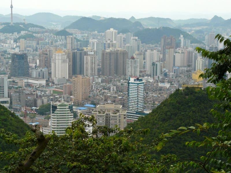 Город Guiyang, Китая стоковые фотографии rf