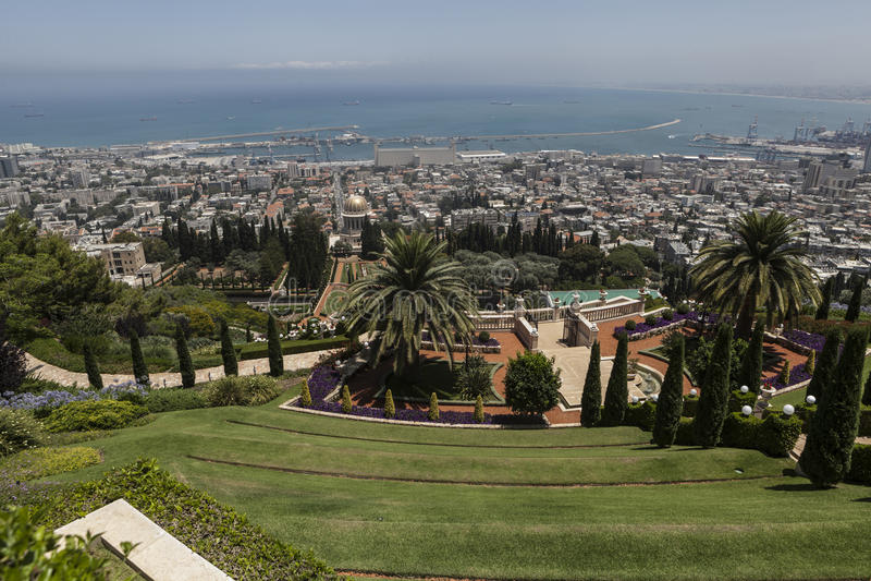 город haifa стоковое фото rf