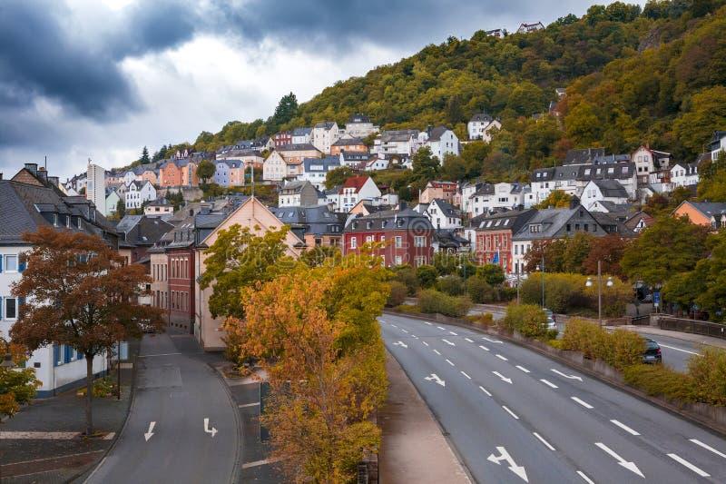 Город Idar Oberstein, Германия стоковое фото