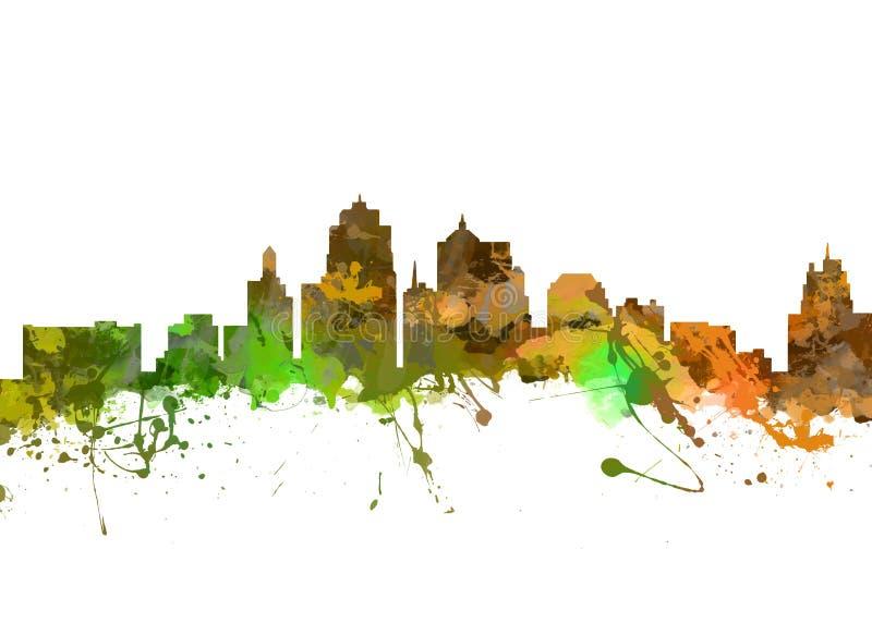 город kansas Миссури стоковая фотография rf