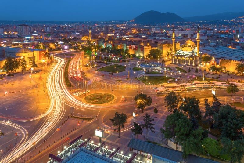 Город Kayseri, Турция стоковые фотографии rf