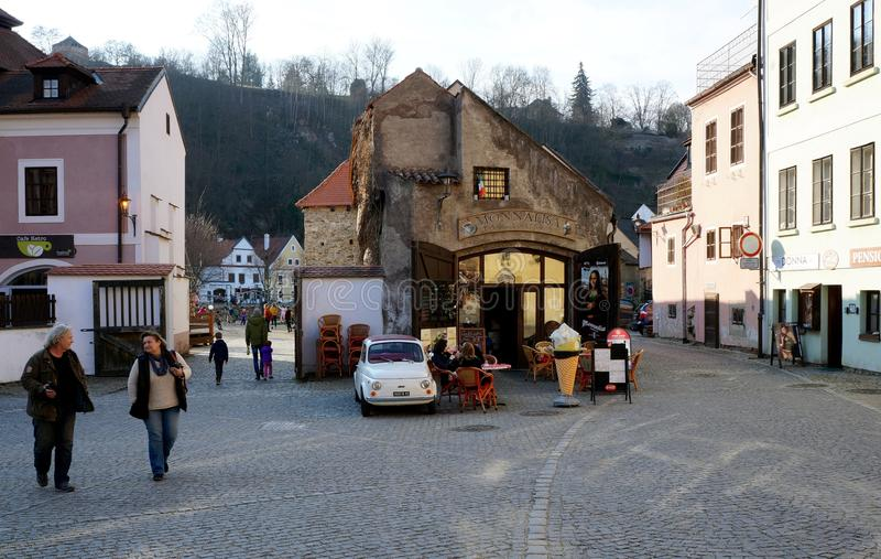 Город Krumlov ½ ÄŒeskà стоковое фото