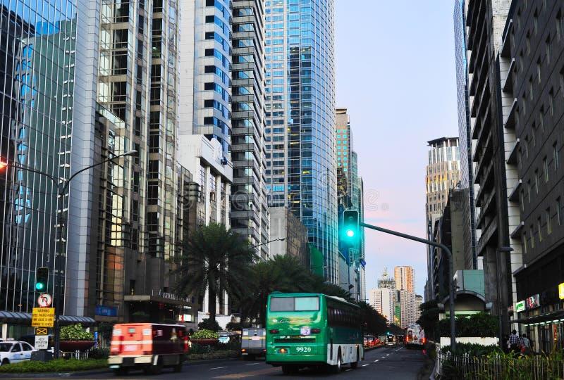 Город Makati, центр города Манилы стоковые изображения rf