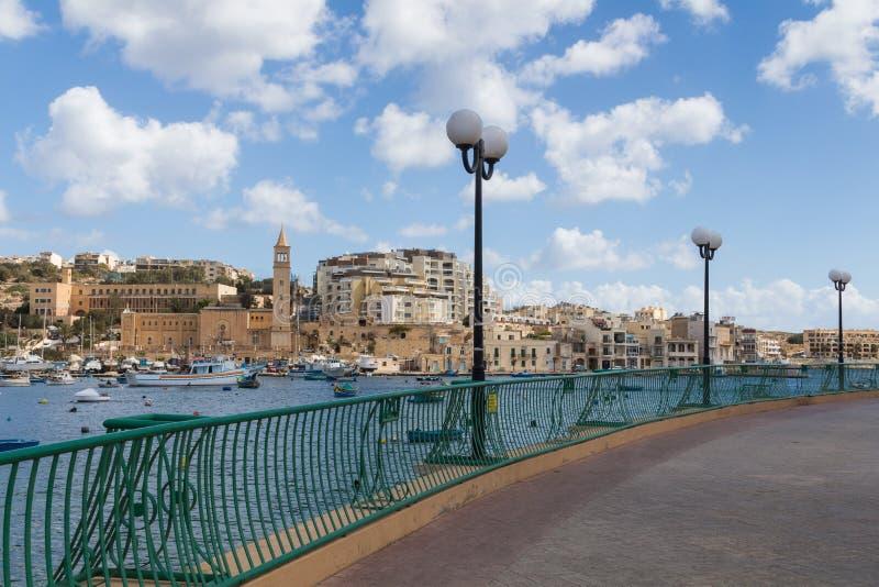 Город Marsascala, остров Мальта, 2-ое мая 2015 стоковая фотография rf