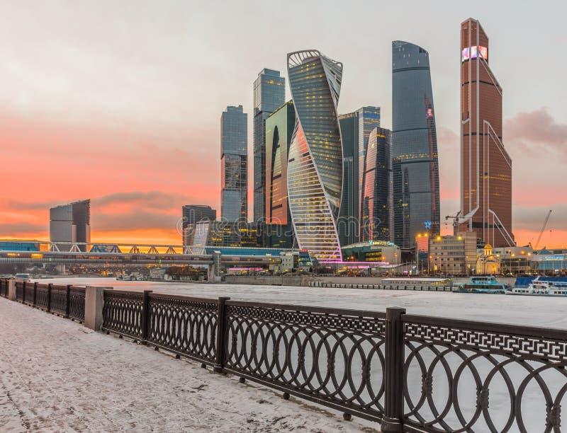город moscow делового центра стоковое фото
