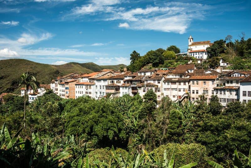 Город Ouro Preto в минах Gerais - Бразилии стоковые фотографии rf