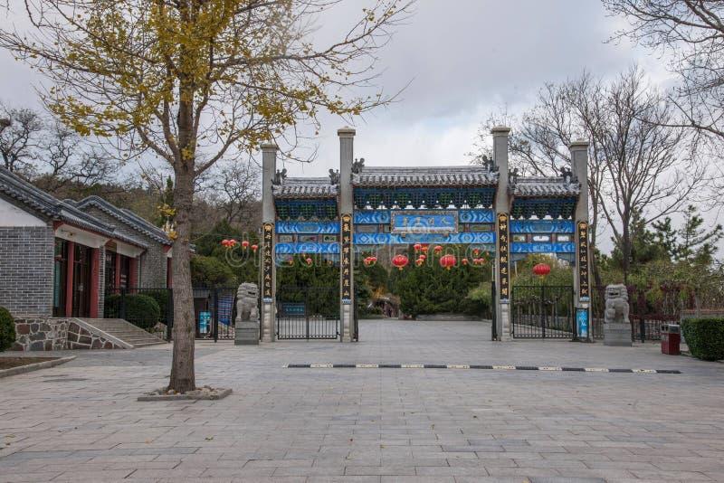 Город Penglai, провинция Шаньдуна, живописная местность павильона Penglai стоковые изображения