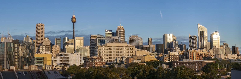 Город Scape Сиднея стоковое фото rf