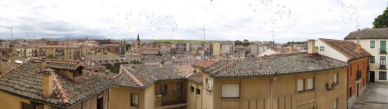 Город Segobia известный в Испании стоковые фото