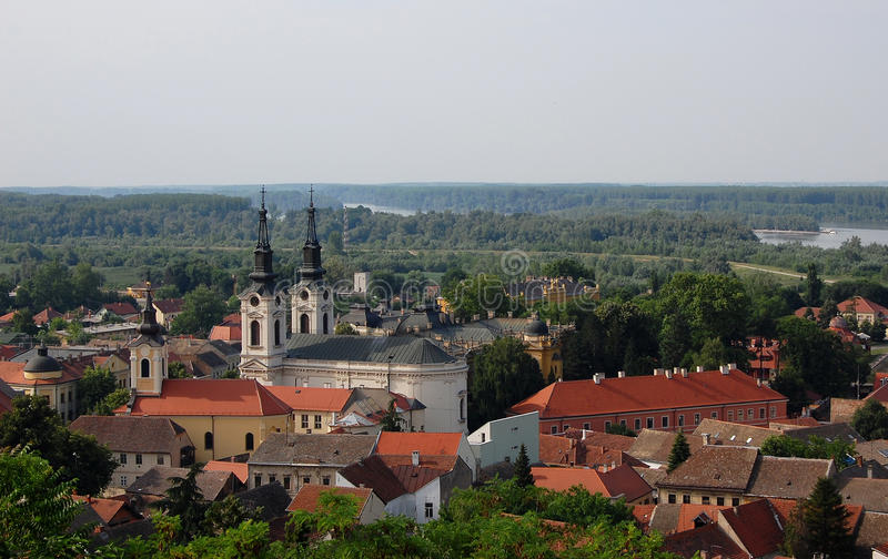 Город Sremski Karlovci; Сербия стоковая фотография