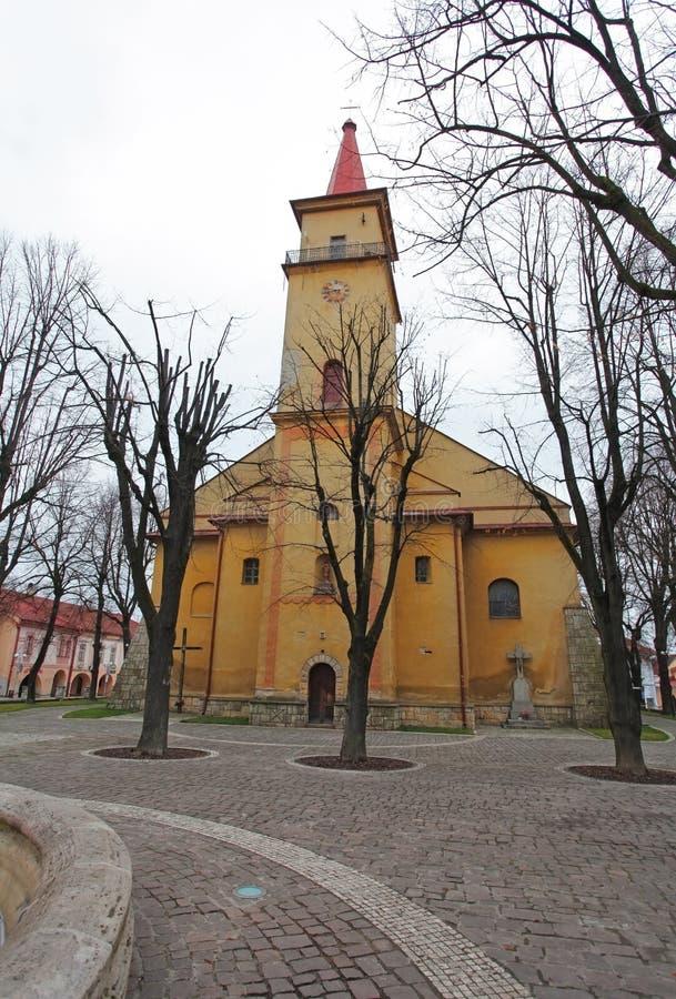 Город Stara Lubovna - Словакия стоковые изображения