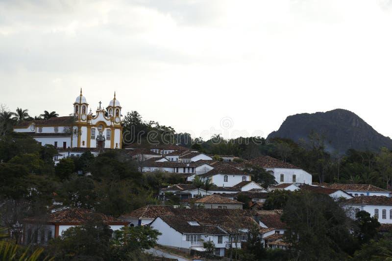 Город Tiradentes исторический мин Gerais стоковая фотография rf