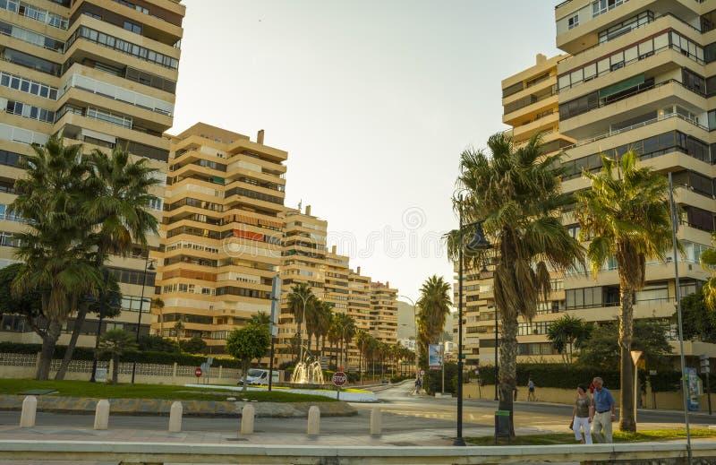 Город Torremolinos, провинция Малаги, Андалусия, Испания стоковое фото