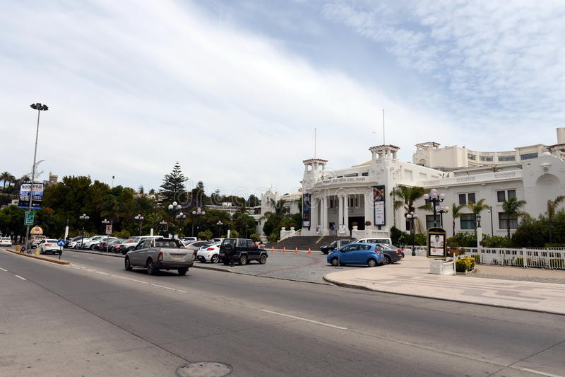 Город Vina Del Mar, административный центр омонимичного муниципалитета, часть провинции Вальпараисо стоковые фотографии rf