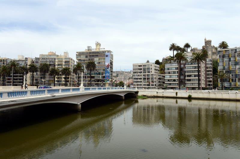 Город Vina Del Mar, административный центр омонимичного муниципалитета, часть провинции Вальпараисо стоковые фото