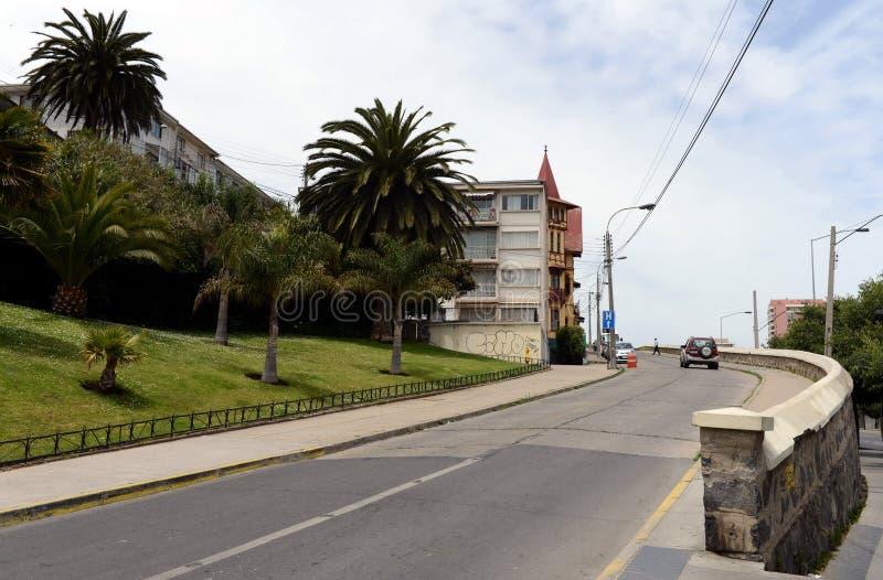 Город Vina Del Mar, административный центр омонимичного муниципалитета, часть провинции Вальпараисо стоковое фото