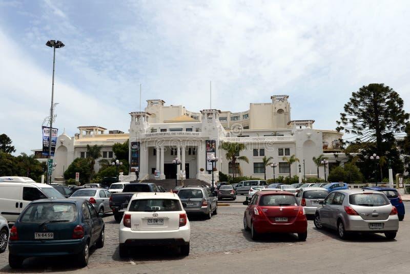 Город Vina Del Mar, административный центр омонимичного муниципалитета, часть провинции Вальпараисо стоковое изображение rf