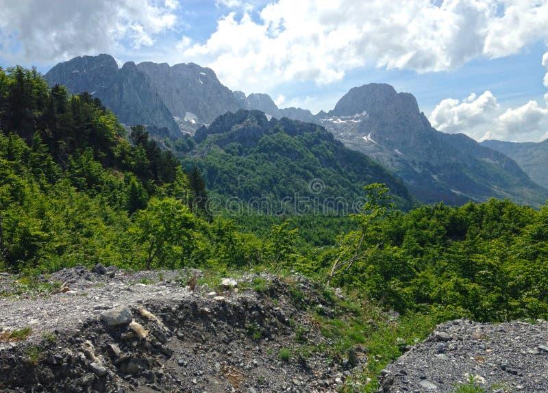 Горы албанских Альп стоковые фотографии rf