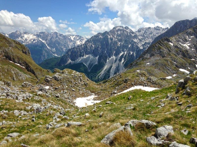Горы албанских Альп стоковые изображения rf