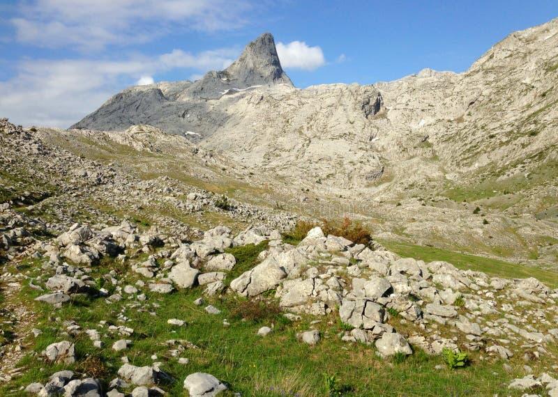 Горы албанских Альп стоковая фотография