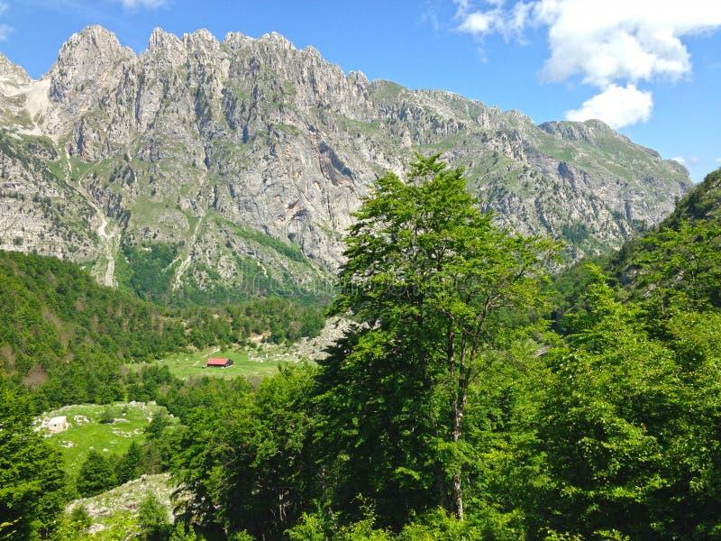 Горы албанских Альп стоковая фотография rf