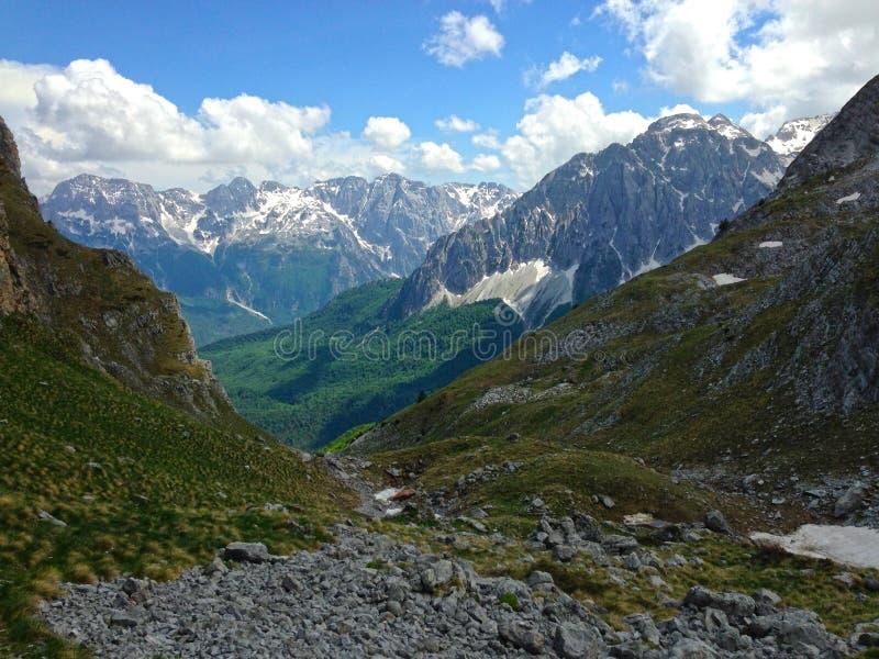 Горы албанских Альп стоковые фото