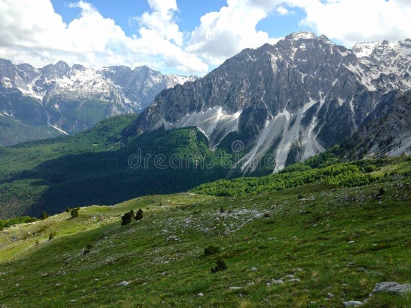 Горы албанских Альп стоковое фото rf