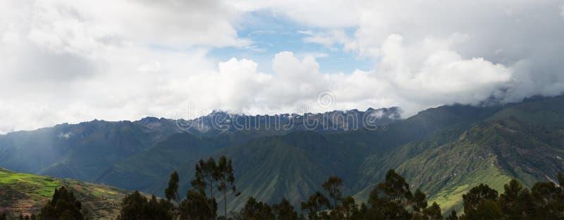 Горы Анд, перемещение Перу, панорама стоковые фотографии rf