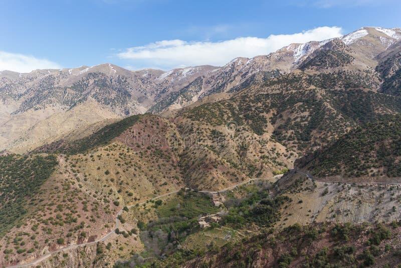 Горы атласа в Марокко, Северной Африке стоковая фотография
