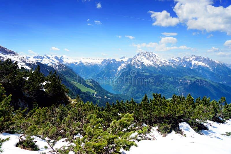 Горы Альпов, Бавария стоковая фотография rf
