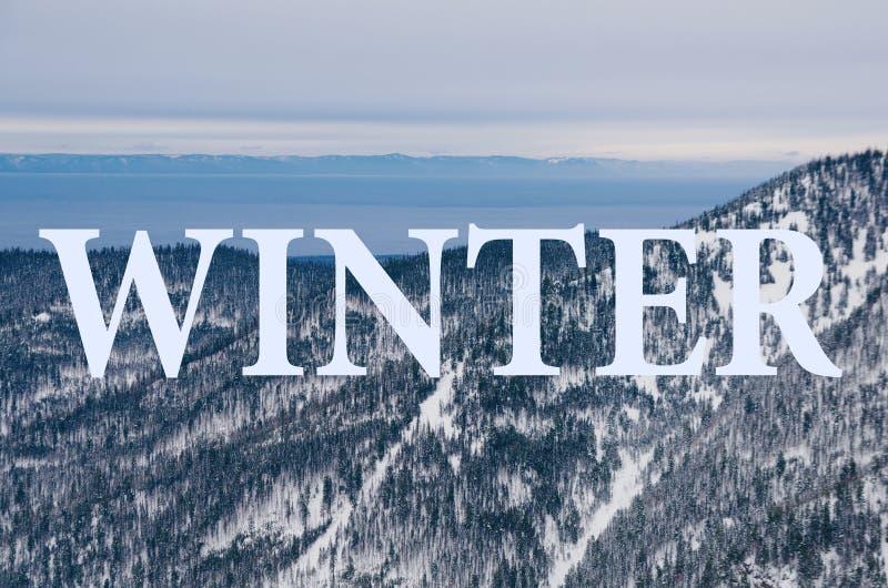 Горы Байкала в зиме стоковая фотография