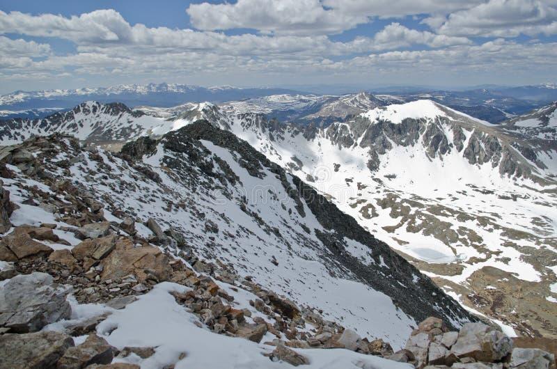 Горы белизны Колорадо стоковая фотография rf