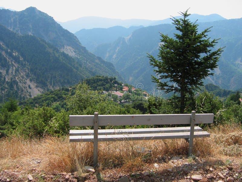 Горы в Acarnania и Aetolia Греции стоковые фотографии rf
