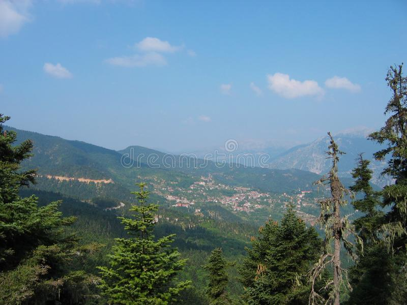 Горы в Acarnania и Aetolia Греции стоковые изображения