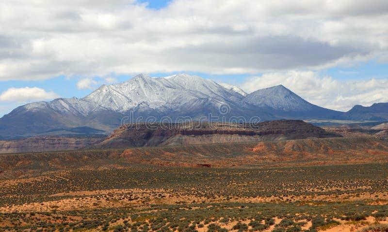 Горы Генри в южной Юте стоковая фотография