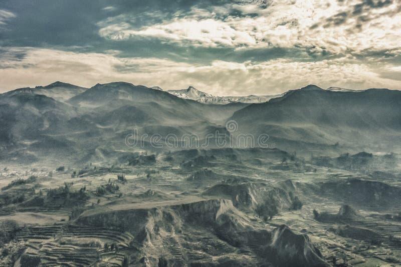 Горы долины Colca в Arequipa Перу стоковые фото