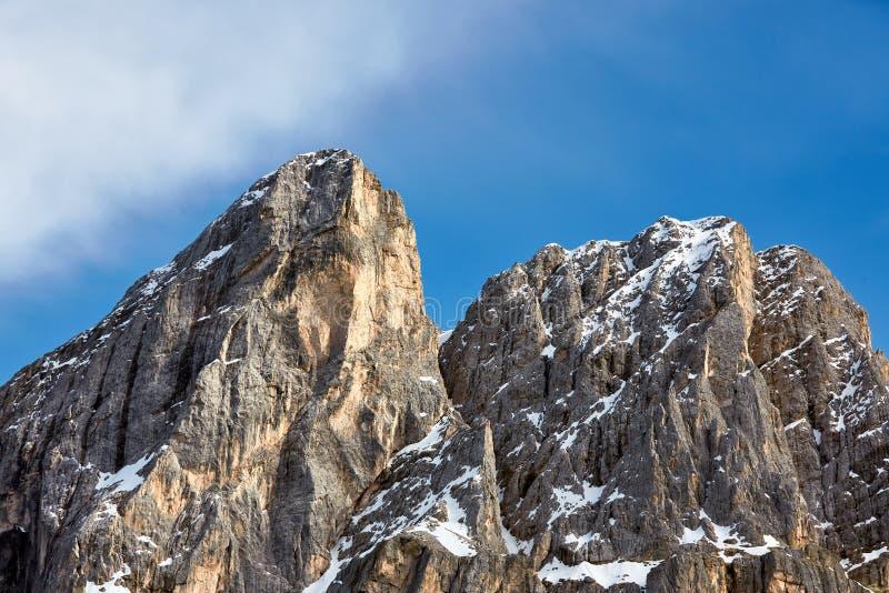 Горы доломитов в севере Италии, Trentino, горной вершины стоковая фотография rf