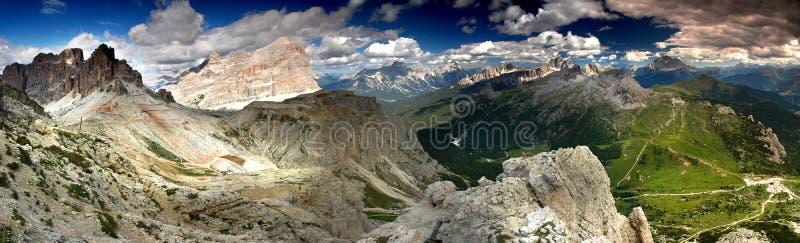 горы доломитов стоковые фотографии rf