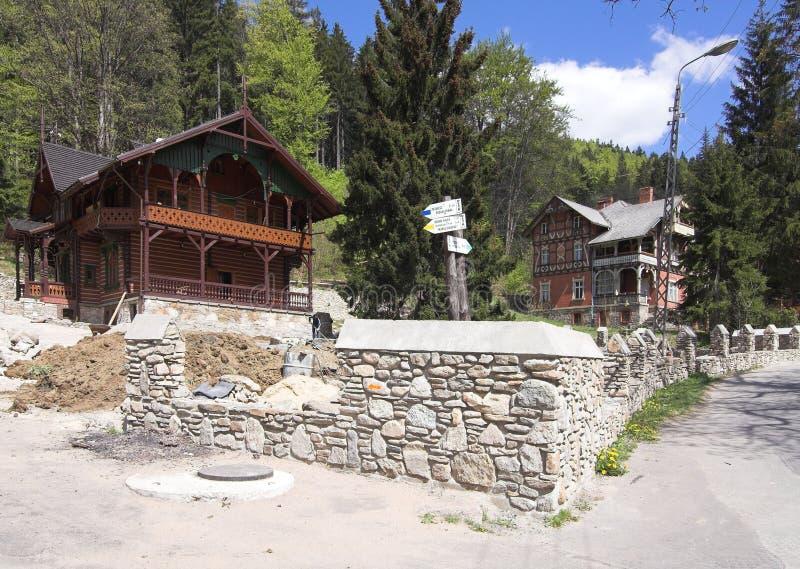 горы дома стоковые изображения rf