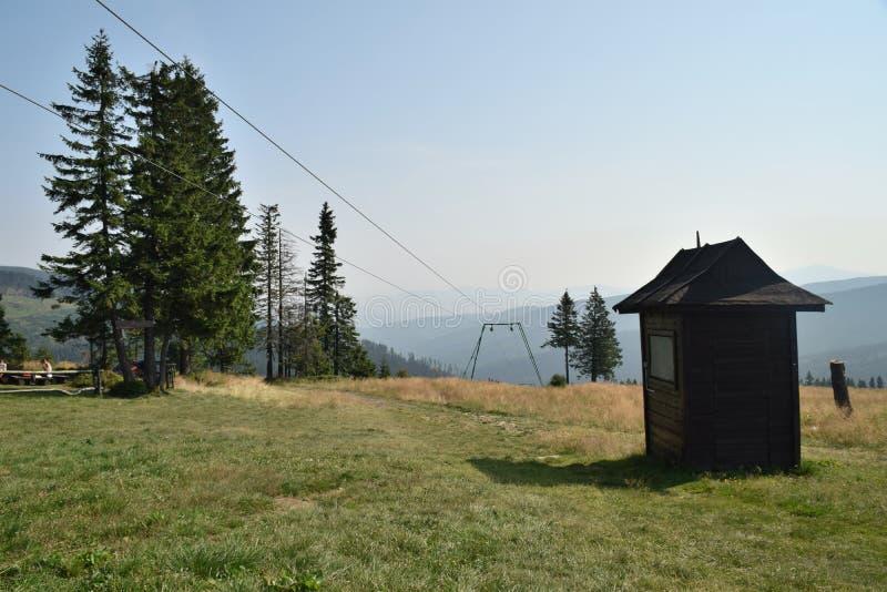Горы заполированности Beskid стоковая фотография rf